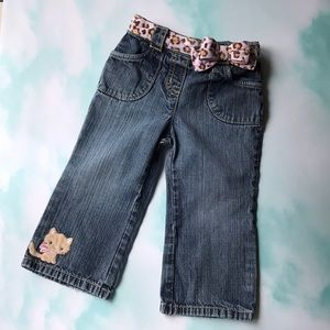 Cute Baby Kitty Jeans with Bow Belt 18-24 months